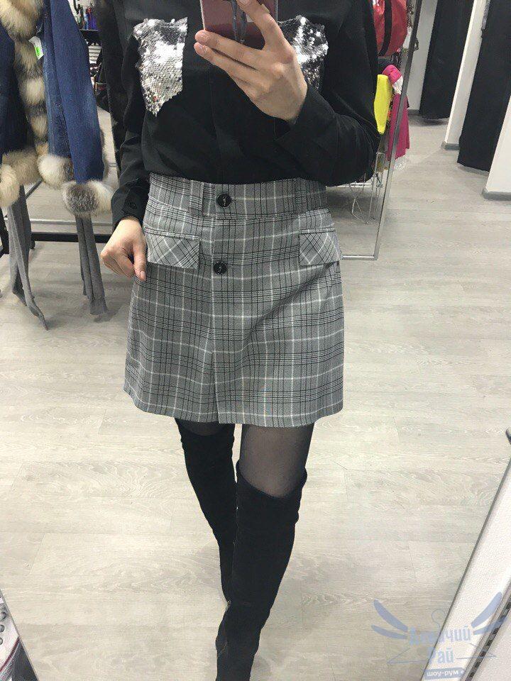 36a4187b0b4 Купить юбка-шорты в клетку мини модная
